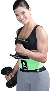 79059b1361e4e Tecnomed Aerobics Waist Cincher Tummy Trimmer Belt Weight Loss Slimming  Workout