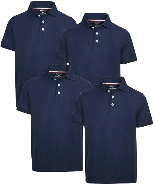ee9e56e169 French Toast Boys Short Sleeve Uniform Pique Polo Shirt - 4 Pack