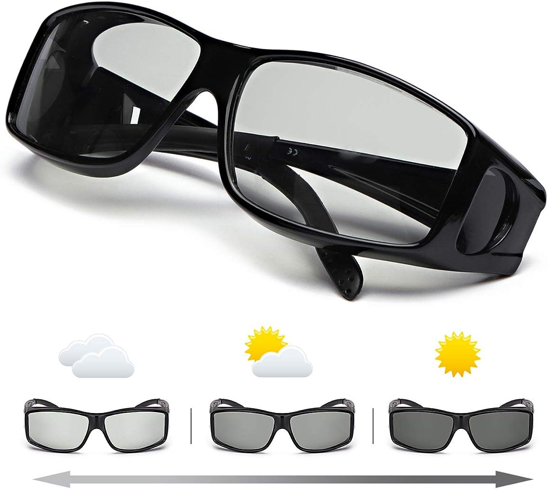 IGnaef Gafas De Sol Polarizadas Fotocromáticas Para Hombre Para Conducir Deporte Al Aire Libre con- Protección 100% UVA/UVB