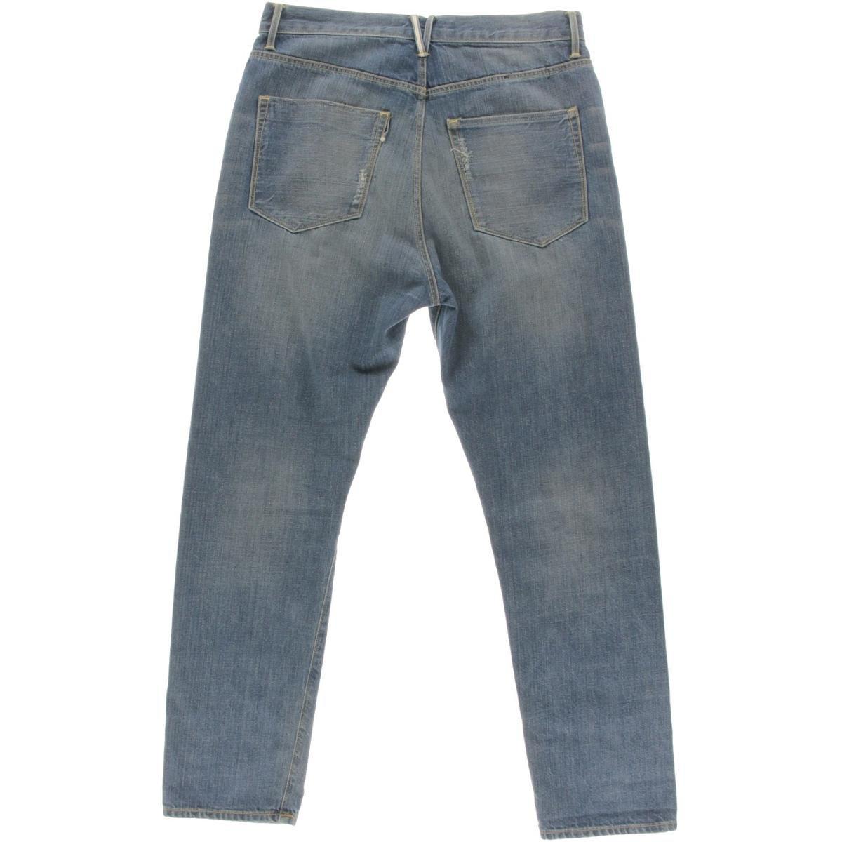 3x1 Womens W4 High Rise Cropped Boyfriend Jeans
