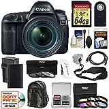 Canon EOS 5D Mark IV 4K Wi-Fi Digital SLR Camera & EF 24-70mm f/4L IS USM Lens + 64GB SD Card + Battery & Charger + Backpack + 9 Filters + Strap Kit