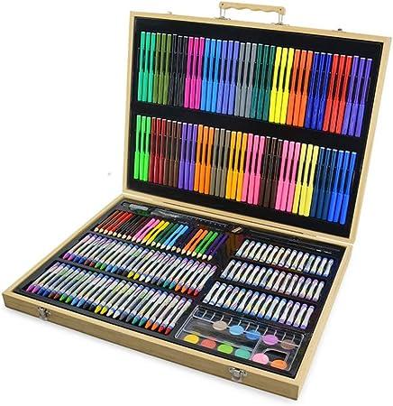 Art JKWL Set de Arte de Lujo de 213 Piezas, Estuche de Arte de Pintura Dibujo de Madera: Amazon.es: Hogar