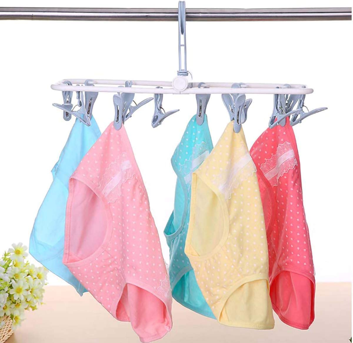 Bingo Trade Drying Rack Foldable Indoor Sock Dryer-Keep Smaller Laundry Items Together When Drying for Socks Khaki Bras Baby Clothes, Underwear