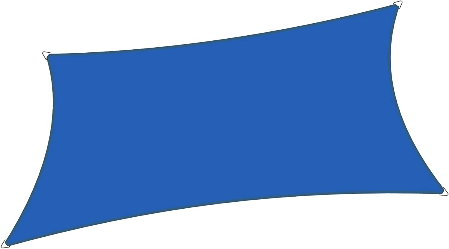 Alion Home 8' x 12' Waterproof Woven Sun Shade Sail in Vibrant Colors (8 ft x 12 ft Retangle) (Royal Blue)