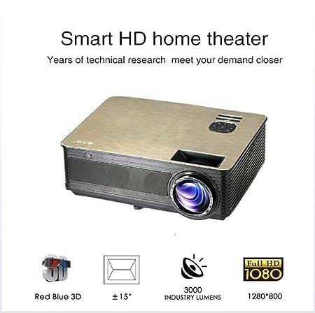 ZY Proyector de Cine en casa, Mini proyector portátil LED ...
