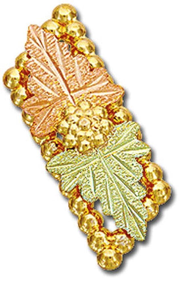 Landstroms Black Hills Gold Tie Tack or Lapel Pin with Large Leaves G LR743