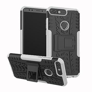 Funda Huawei Honor 7C, Carcasa Huawei Y7 2018 Protector Antigolpes Robusta Case 360 Armadura Doble Capas a Prueba de Choques Caída Protección Fuerte ...