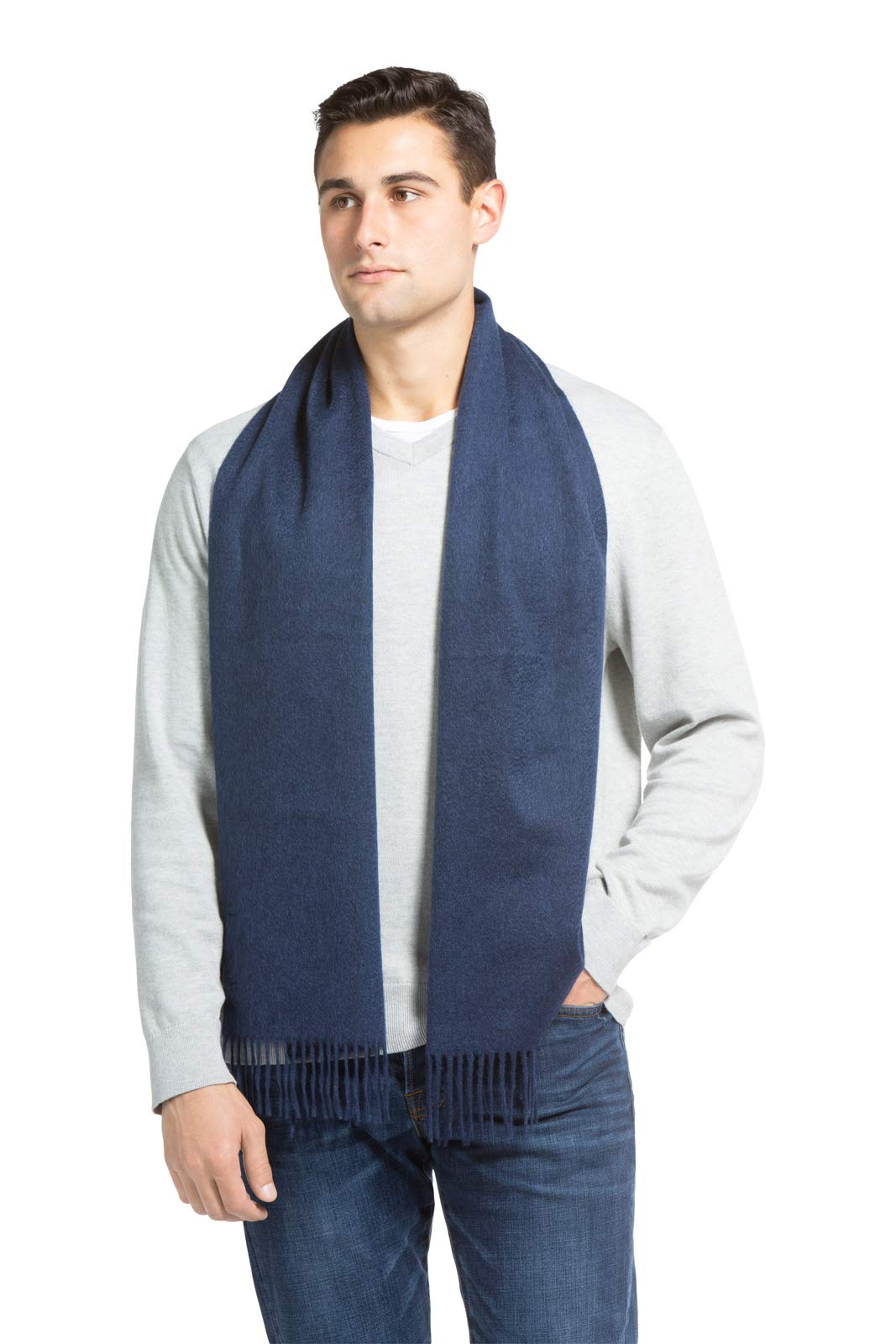 0846baeb73ccf Fishers Finery Men s 100% Pure Cashmere Winter Scarf  2-Ply Dehaired  product image