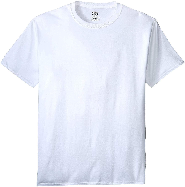 Hanes Mens Beefy-T Tall T-Shirt/_White/_4XT