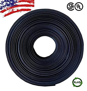 "5 FT 5/' Feet BLACK 3//32/"" 2.4mm Polyolefin 2:1 Heat Shrink Tubing Tube Cable US"