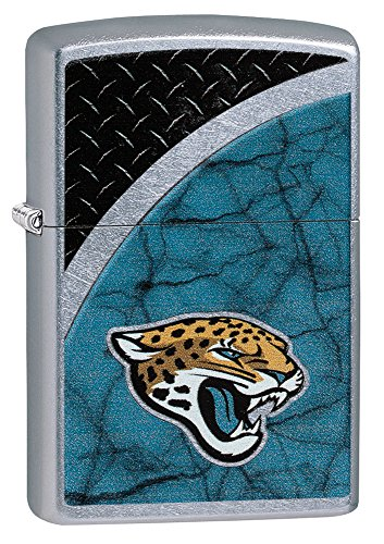 Zippo NFL Jacksonville Jaguars Street Chrome Pocket Lighter