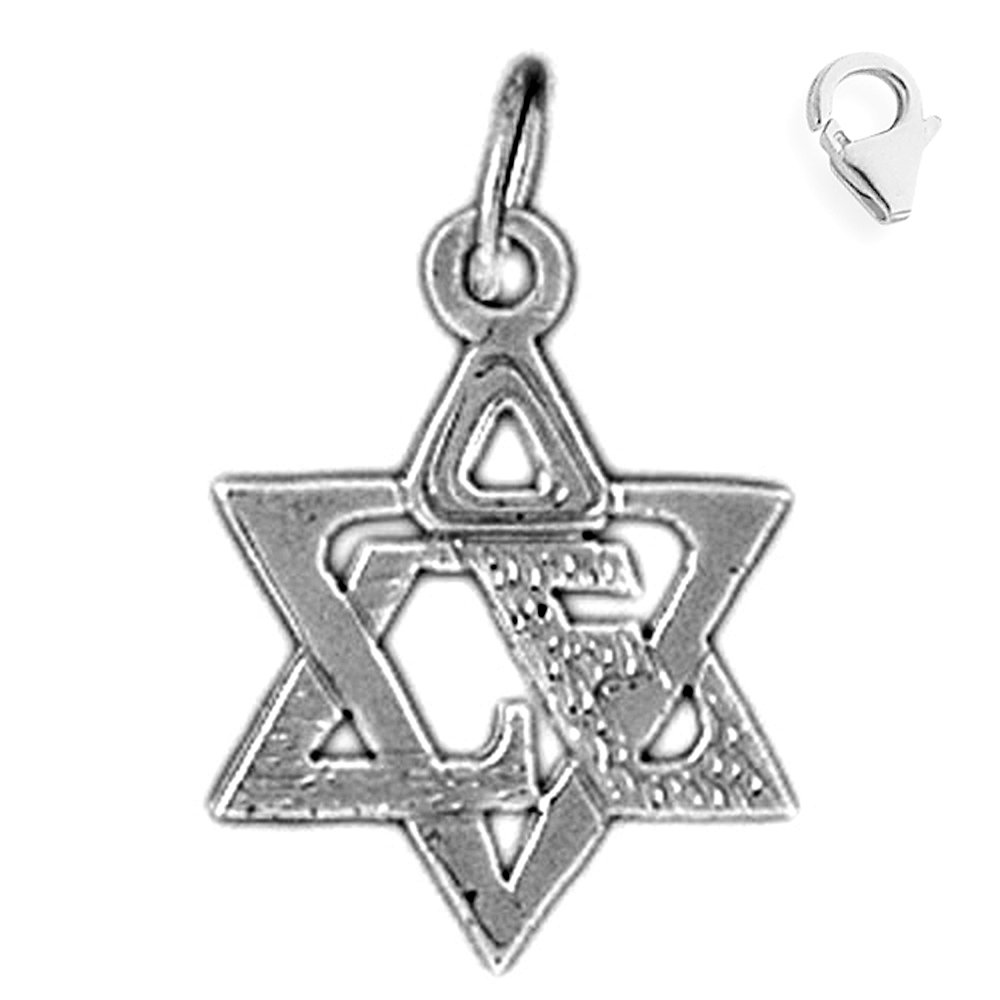 JewelsObsession Sterling Silver 21mm Star of David Charm w//Lobster Clasp