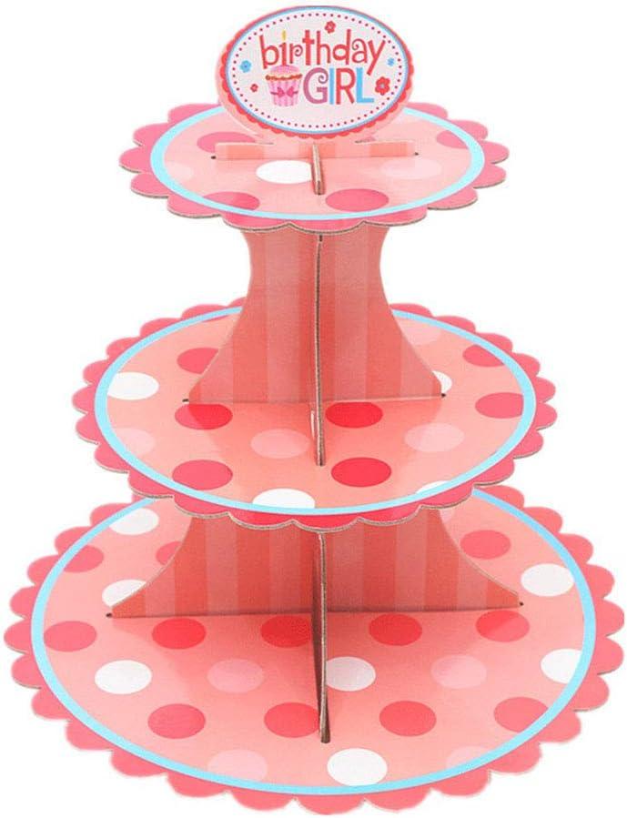 34,5 cm wei/ß Pappe gold msyou 3/Etagen Cupcake-St/änder rund gestapelt Kuchen Muffin Display Lebensmittel St/änder aus Karton f/ür Hochzeiten Geburtstag Halloween Weihnachten Party