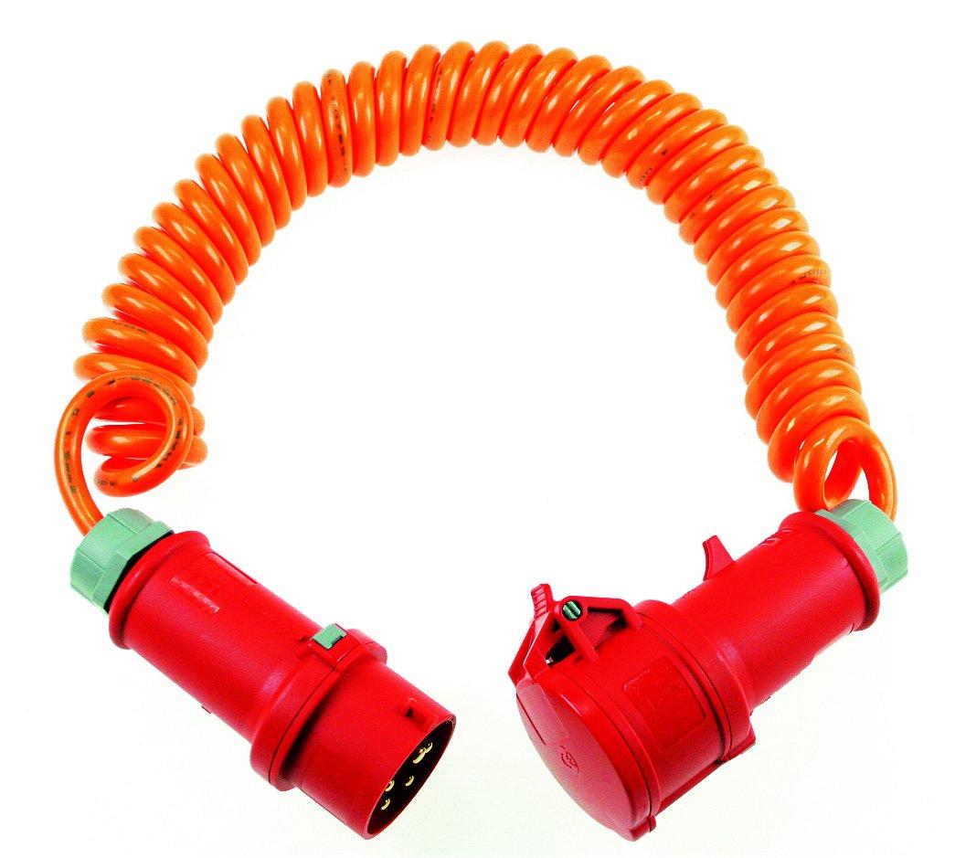 orange 70413 as-Schwabe Baustellen-Spiralkabel 5m