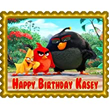 The Angry Birds Movie Edible Cake Topper & Cupcake Toppers - 7.5 x 10' (1/4 sheet) rectangular inches