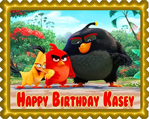 The Angry Birds Movie Edible Cake Topper & Cupcake Toppers - 10 x 16' (half sheet) rectangular inches