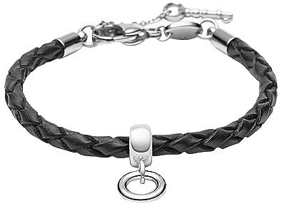 6f2521dad5 FOSSIL JF85493040 Charms Armband Leder schwarz 17,5 cm + 4 cm Verlängerung