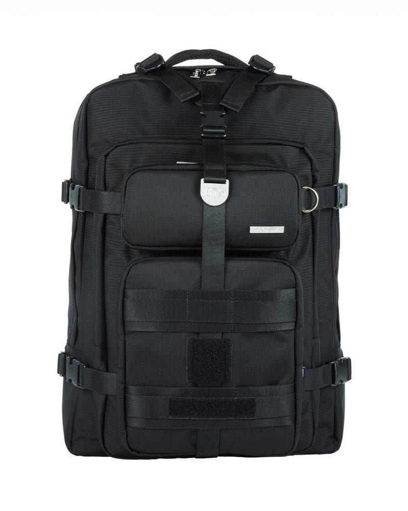 BTS X AGATHA Travel Edition Canvas Backpack Rucksack School College Backpacks for Unisex, Black - Medium (0.98 cu ft)