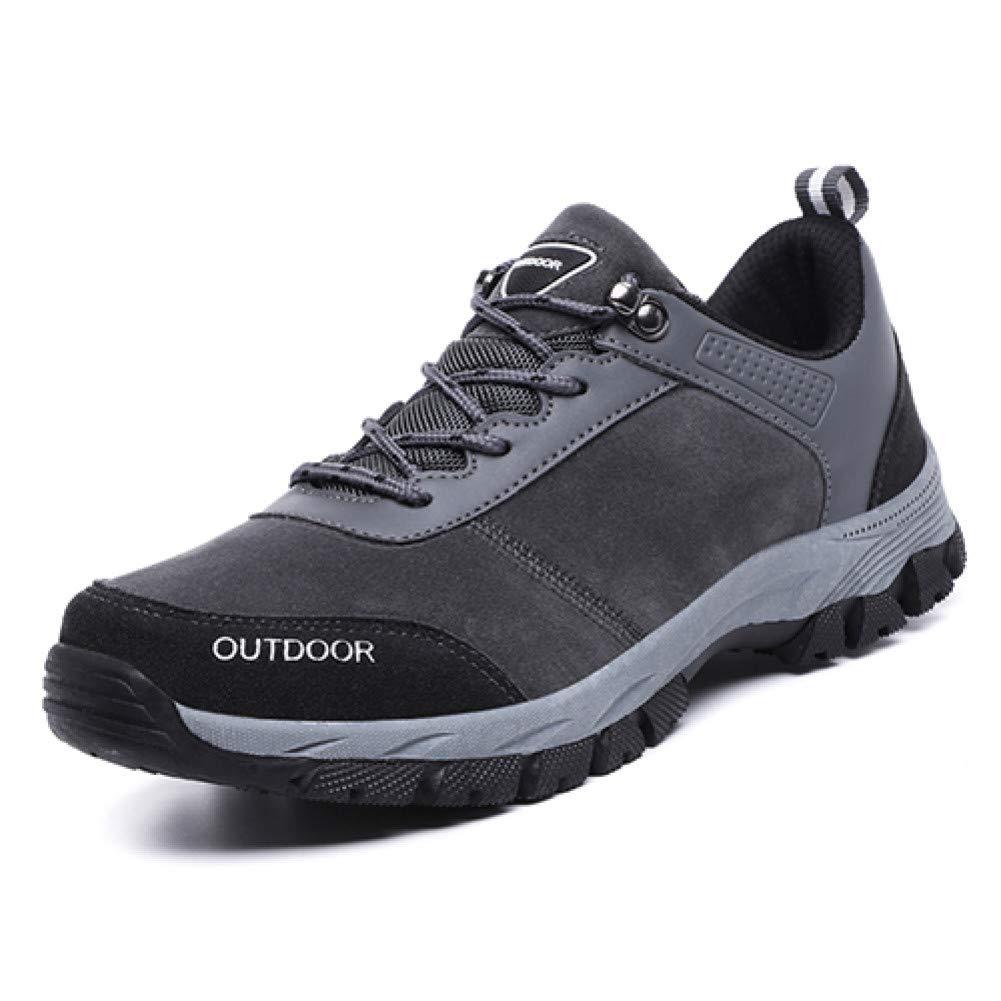 salida de fábrica gris gris gris 10.5 QLJ01 Más El Tamaño 48 Zapatos De Senderismo Antideslizantes Profesionales para Hombre Zapatillas De Deporte De Piel De Gamuza Zapatos De Escalada De Montaña A Campo Traviesa  Para tu estilo de juego a los precios más baratos.