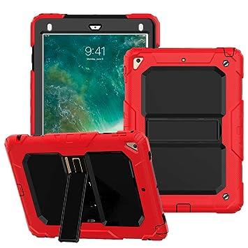 Funda para iPad Air 2/Pro 9.7/iPad 2018, FANSONG 3 in1 Híbrido Protección Resistente a Prueba de Golpes con función de Soporte Estuche Resistente para ...