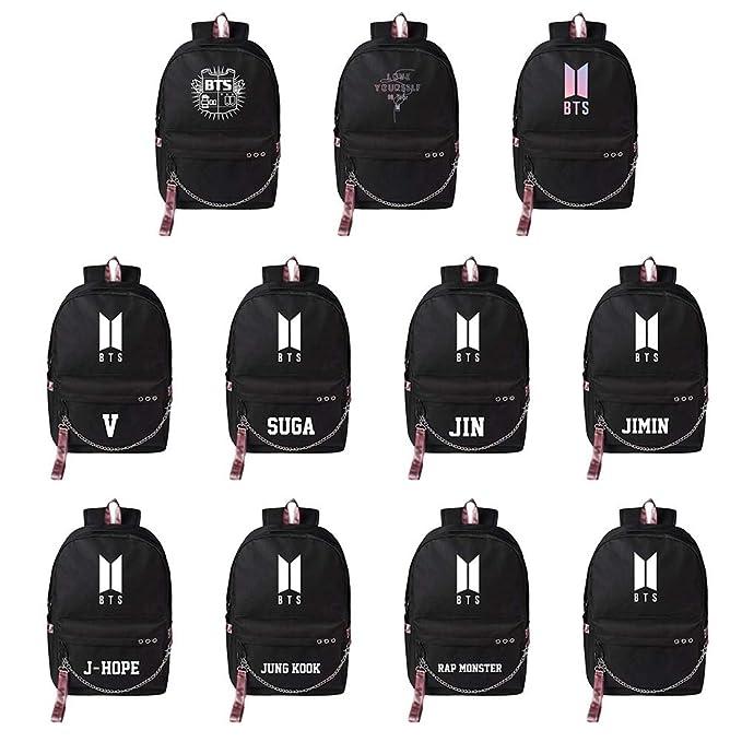 Kpop Bangtan Boys Daypack School Bag Computer Bag Gift for Army Chutoral BTS Backpack
