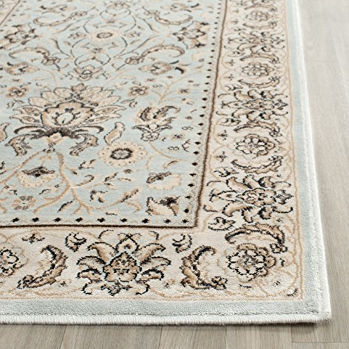 - Safavieh Persian Garden Collection PEG607L Traditional Light Blue and Ivory Viscose Area Rug (4' x 5'7