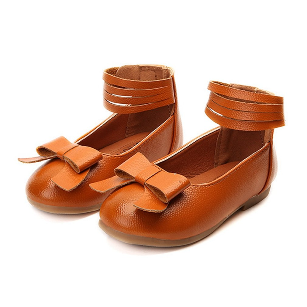 CYBLING Girls Kids Dress Ballet Flats Ankle Strap Casual Slip On Ballerina Shoes (Toddler/Little Kid)