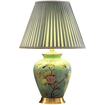 ZJJ Lámpara de Mesa- Lámpara de Mesa de cerámica del hogar ...