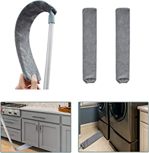 RORACK Retractable Gap Dust Cleaning Artifact (3 Cloth Covers), Duster with Extension Pole Extend 38 to 54 Inches, Washable, Detachable, Microfiber Dusters for Cleaning Floors, Furniture