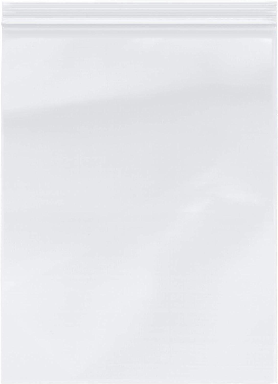 "Plymor Zipper Reclosable Plastic Bags, 2 Mil, 10"" x 13"" (Pack of 200)"