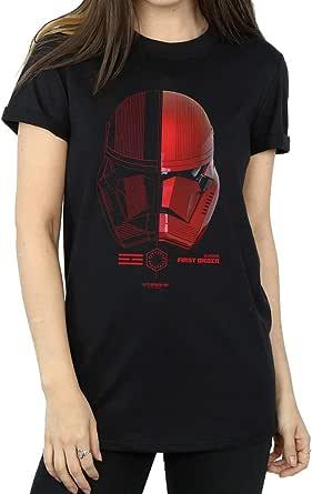 Star Wars Mujer The Rise of Skywalker Sith Trooper Helmet Camiseta del Novio Fit