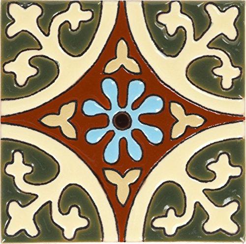 Tierra y Fuego Box of 9-4¼ x 4¼ La Quinta Gloss - Santa Barbara Malibu Tile