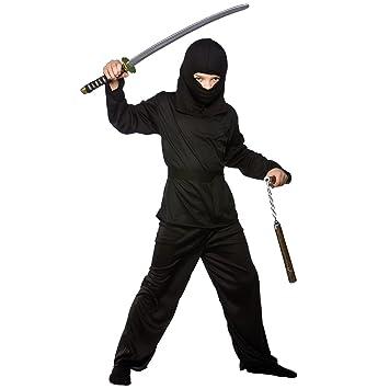 Los niños japoneses Shinobi Ninja disfraz oscuro histórica ...