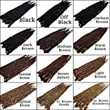 Iconic Locks Black to Brown Custom Dreadlock Extensions. Synthetic Dreads, Made to Order. Your color and length choices. Handmade in USA