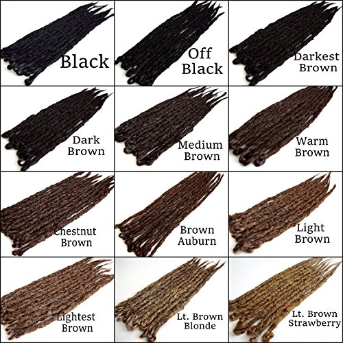 Iconic Locks Black to Brown Custom Dreadlock Extensions. Synthetic Dreads, Made to Order. Your color and length choices. Handmade in USA by IconicLocks