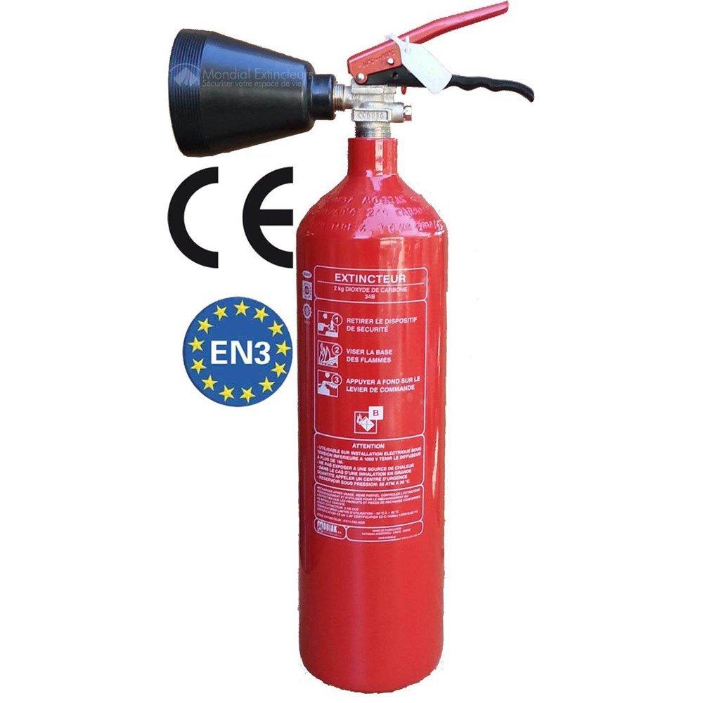 CO² Feuerlöscher 2kg mit Schneerohr + Halter von HausundWerkstatt24