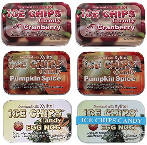 ICE CHIPS Candy 6 Pack Assortment (Holiday (Pumpkin Candy Corn Gift)