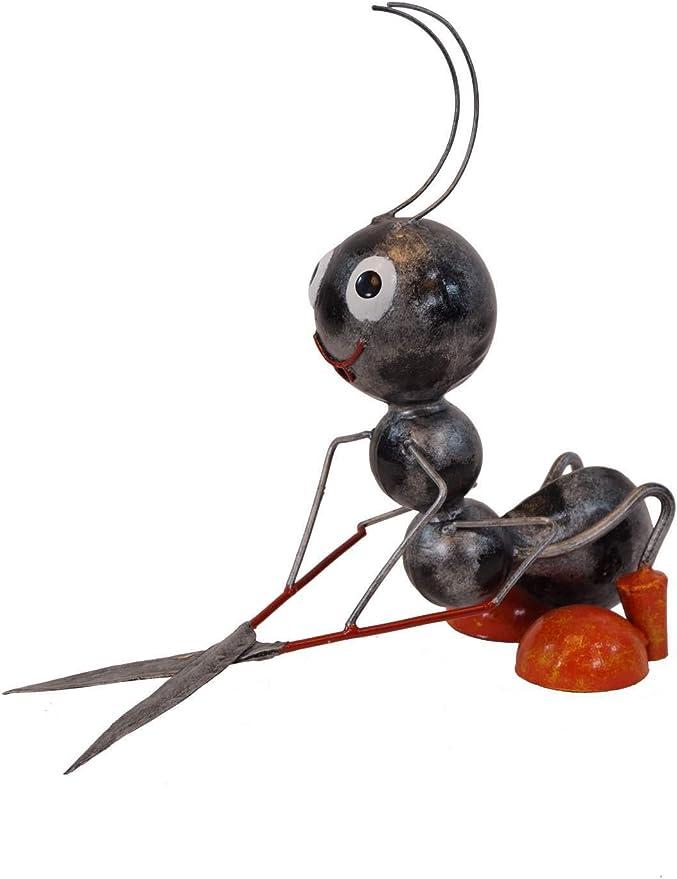 Amicaso Hormigas con Cortasetos, decoración de jardín, decoración de Metal: Amazon.es: Jardín