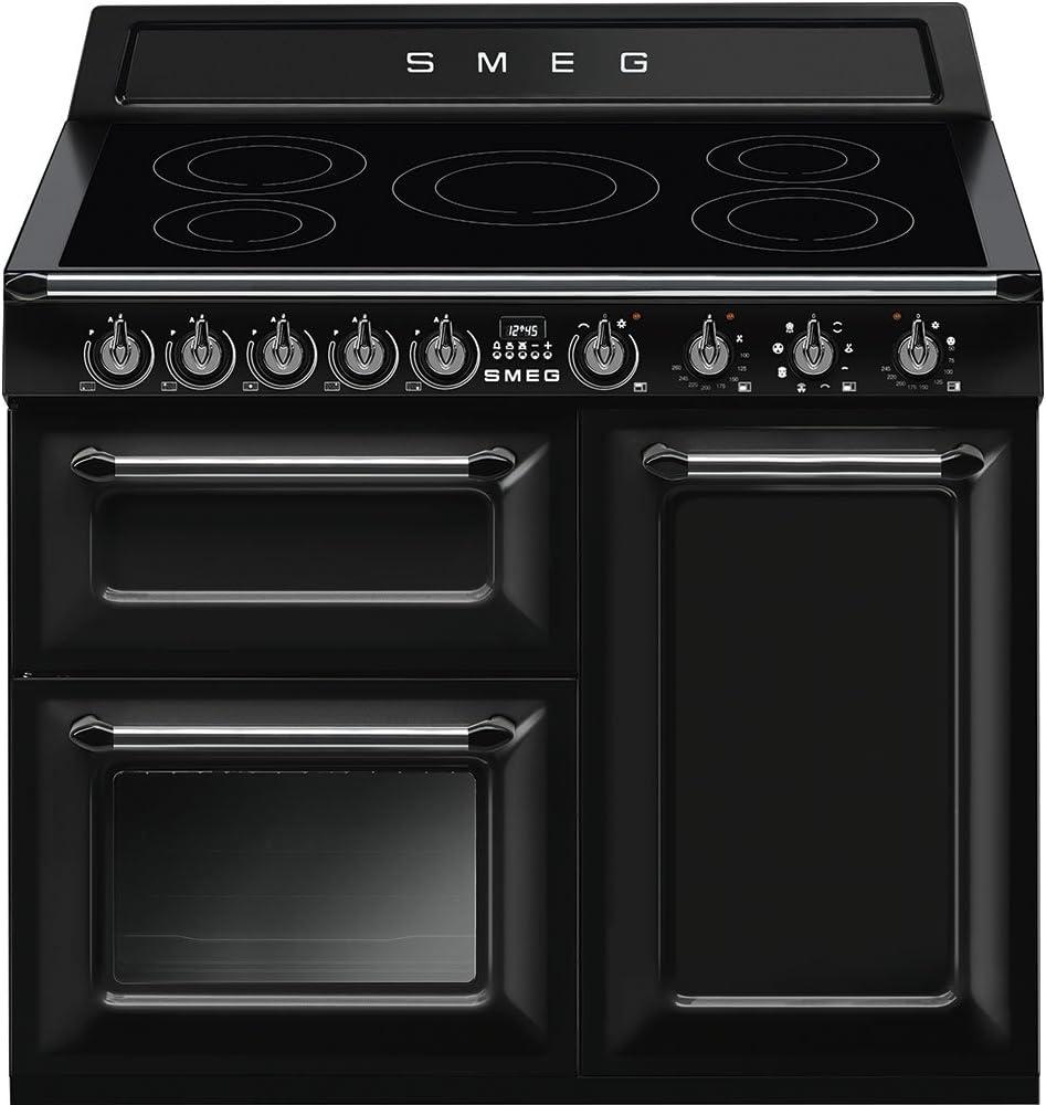 Smeg TR103IBL Range cooker Con placa de inducción A Negro - Cocina (Range cooker, Negro, Botones, Giratorio, Frente, Con placa de inducción, Left front): Amazon.es: Hogar