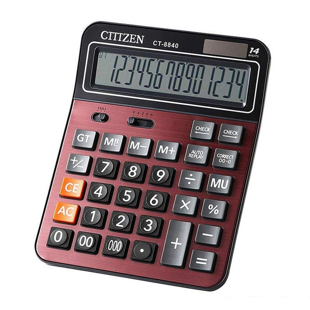Professional Standard Large Desktop Calculator 12-Bit Basic Calculator for Office/Commercial/Electronic Solar and AAA Battery Dual Power Office Calculator Vineyard (Color : 2A) by Vineyard