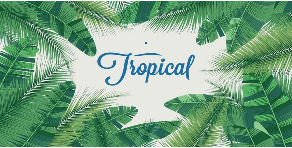 DORCEV 20x10ft Tropical Green Leaf Photography Backdrop Green Leaf Wall Summer Holdiay Party Birthday Party Background Green Palm Leaf Wall Room Wallpaper Kids Adult Photo Studio Props