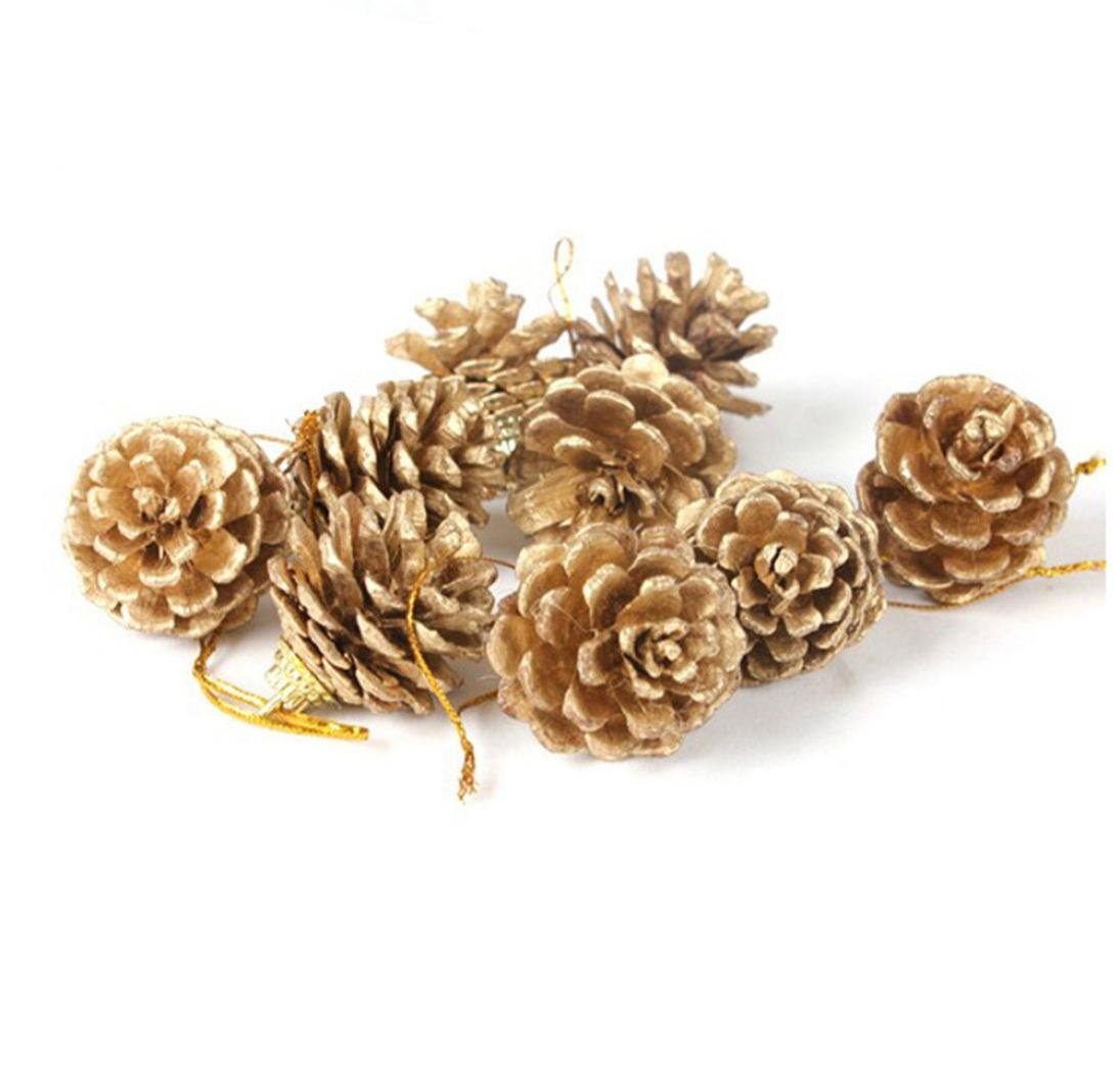 Christmas Decorations Clearance, Paymenow 9 pcs Christmas Pine Cones Bauble Xmas Tree Party Hanging Decoration Ornament Holiday Gift Wrapping (Pine Nuts)