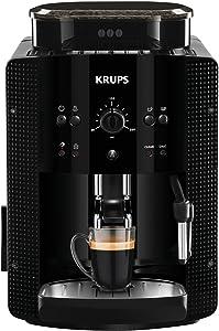 Krups Essential EA81R8 Cafetera súper-automática, 15 bares de presión, molinillo de café cónico de metal, con selección de cantidad e intensidad de café, 1,7 l de depósito, función de vapor