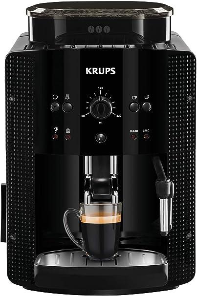 Krups Roma EA81R8 Cafetera súper-automática, 15 bares de presión, molinillo de café cónico de metal, con selección de cantidad e intensidad de café, 1,7 l de depósito, función automática de vapor: Amazon.es: