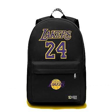 8ae5296ff6 YOURNELO Boy s Teens The Black Mamba Kobe Rucksack School Backpack Bookbag  (Black ...