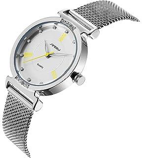 SINOBI Creative Design Simplicity Women Watch Elegant Diamond Mesh Band Women Watches Ladies Wristwatch