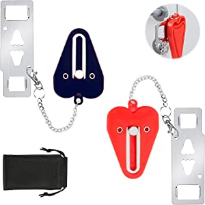Portable Door Lock Home Security Door Locker Travel Locks for Additional Safety and Privacy Perfect for Apartment Hotel Home College 2 Pack