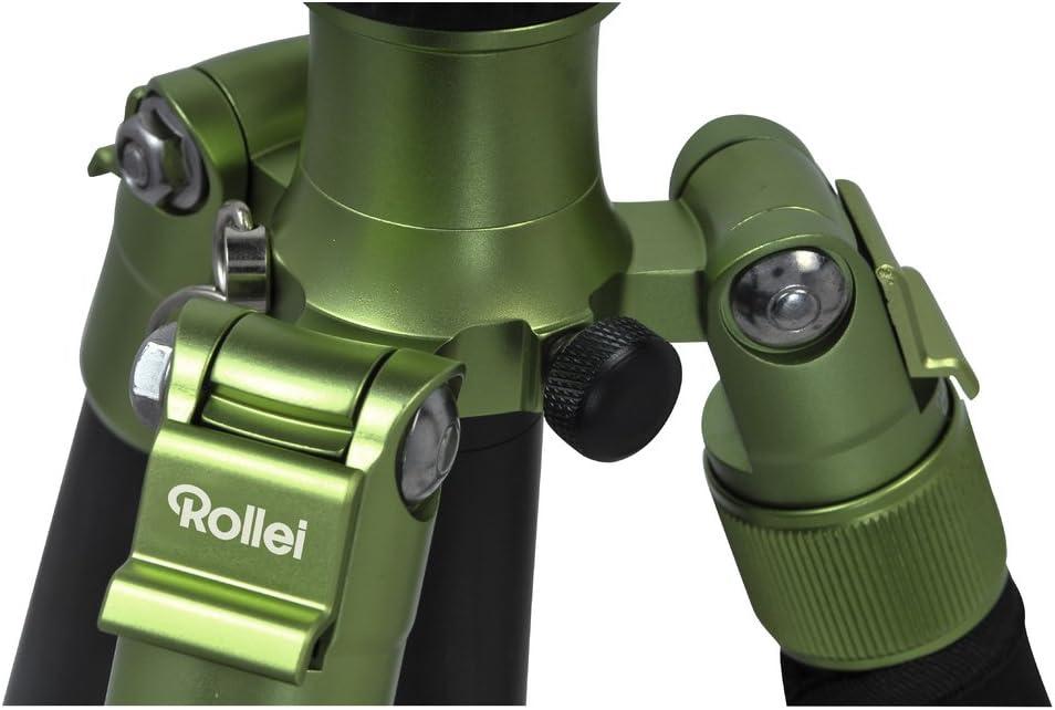 Tr/ípode con Cabeza esf/érica Capacidad 8 kg Color Verde Arca Swiss Compatible Altura 159 cm Rollei C5i Aluminio