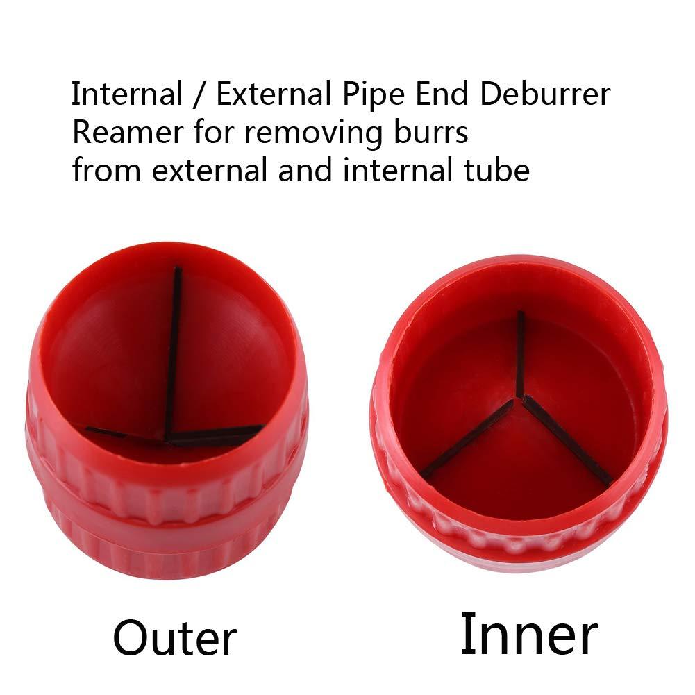 strumento di sbavatura per tubi alesatore universale per tubi da 5 e 35 mm alesatore in PETG e tubo in acrilico Fortspang alesatore interno e esterno per tubi in rame