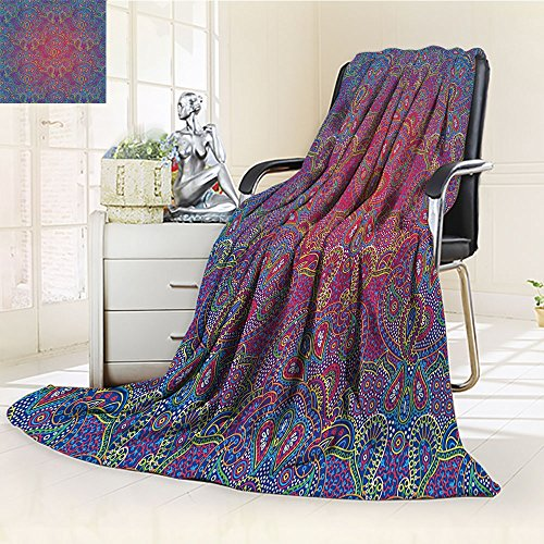 Nalohomeqq Purple Custom Collection Boho Paisley Pattern Ind